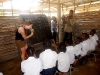 Katie Guest Teaching in the Messima Temporary School